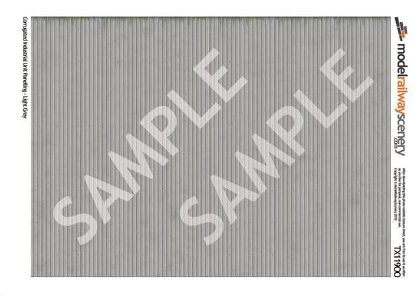 TX119-OO Corrugated Industrial Unit Panelling Light Grey (Pack of 5) OO/4mm/1:76